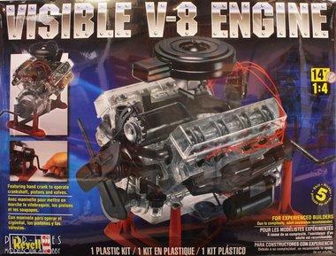 Visuele V-8 motor kit schaal 1:4