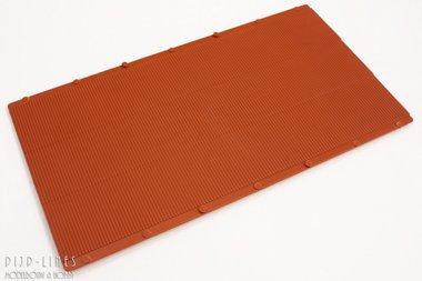Ribbel plaat rood/bruin