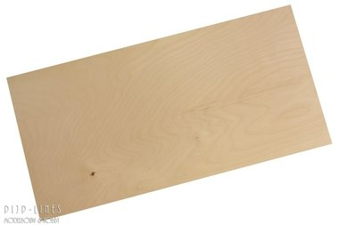 Berken Triplex Plaat 2.0 mm dik, 25 cm x 50 cm
