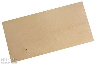 Berken Triplex Plaat 2,5 mm dik,  25 cm x 50 cm