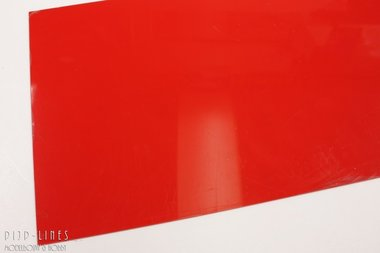 Polystyreen Plaat Rood 1.0 mm dik, 25 cm x 50 cm