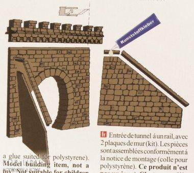 Tunnelportaal Enkel met zijmuren