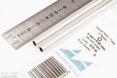 Aluminium buis. 5mm x 0.45mm x 4.1mm