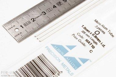 Micro Aluminium buis. 1.0mm x 0.1mm x 0.8mm