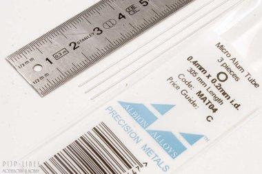 Micro Aluminium buis. 0.4mm x 0.1mm x 0.2mm