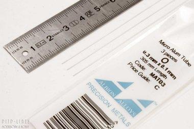 Micro Aluminium buis. 0.3mm x 0.1mm x 0.1mm