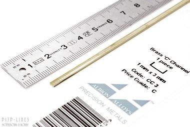 Messing U-profiel 1 mm x 3 mm