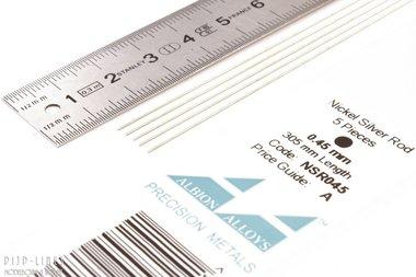 Nikkelzilver staaf rond 0,45mm