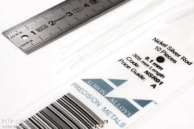 Nikkelzilver staaf rond 0,1mm