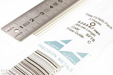 Nikkelzilver Pijp assortiment 0,3/0,5 en 0,7 mm