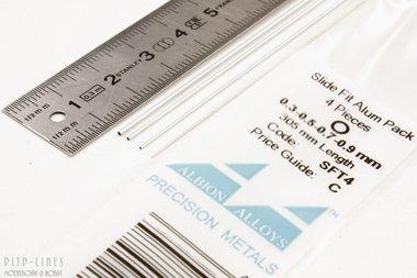 Aluminium Pijp assortiment 0,3/0,5/0,7 en 0.9 mm