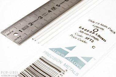 Aluminium Pijp assortiment 0,4/0,6/0,8 en 1 mm