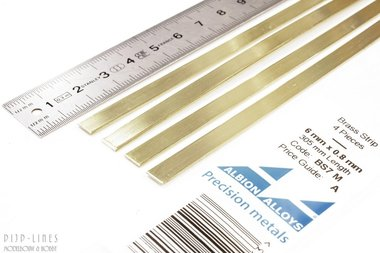 Messing Strip 6 mm x 0,8 mm