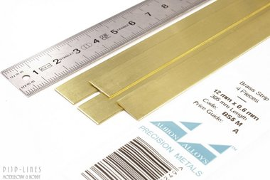 Messing Strip 12 mm x 0,6 mm