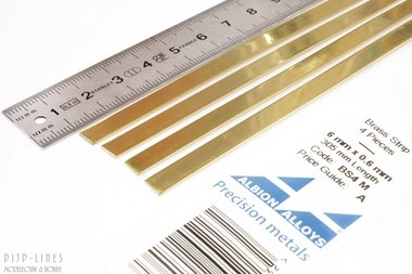Messing Strip 6 mm x 0,6 mm