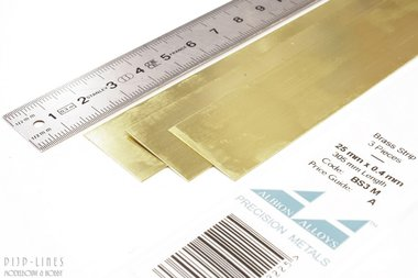Messing Strip 25 mm x 0,4 mm