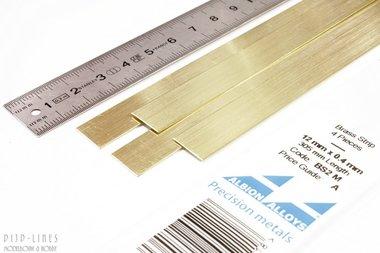 Messing Strip 12 mm x 0,4 mm