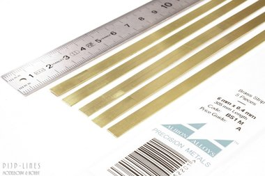 Messing Strip 6 mm x 0,4 mm