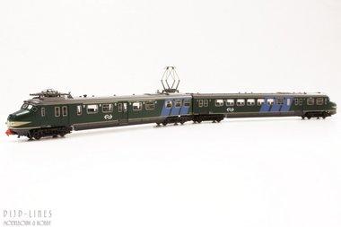 NS Hondekop groen met blauwe banen. 348