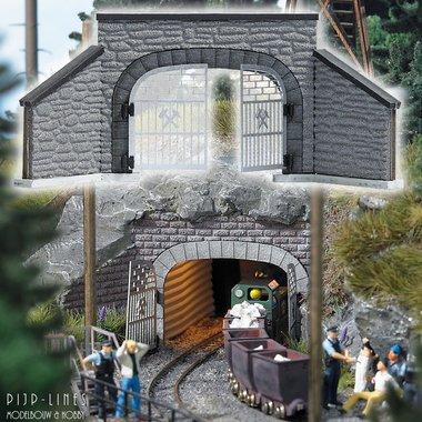 Tunnelingang voor mijnen