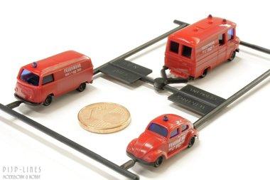 Brandweer set VW en Mercedes