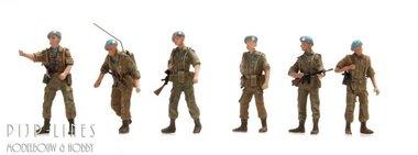 NL UNIFIL-patrouille Blauwhelmen, 6 figuren
