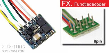 LokPilot Fx Nano. Functie decoder MM/DCC 8-pol NEM652