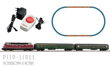 Analoge startset DB diesel locomotief V 220 met 2 sneltrein rijtuigen