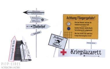 WOII Duitse straatnaamborden