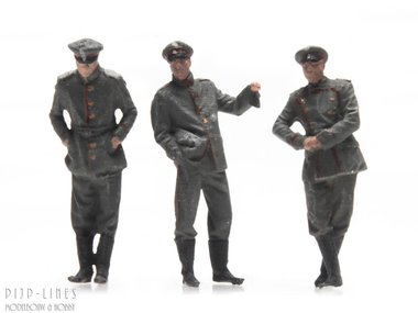 WOI Duitse officieren 3 stuks