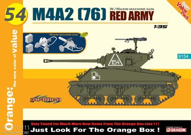 M4A2 (76) Red Army with Maxim Machine Gun