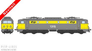 NS E-lok 1315 geel/grijs. DC Analoog