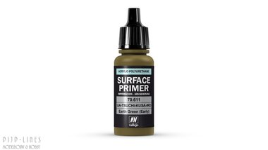 Vallejo Surface Primer Earth Green (early)