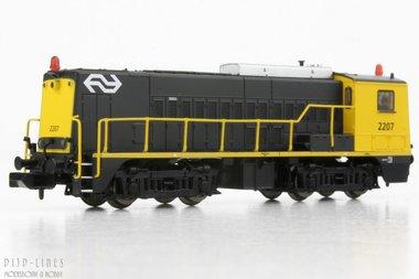 NS Diesel locomotief 2207 geel/grijs N