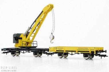 DB Kraanwagen met bijwagen