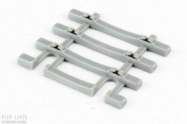 Dwarsliggers eindstuk voor beton flexrails 31mm