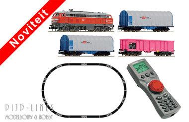 Digitale startset diesellok BR 218 met goederentrein