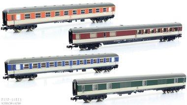 DB sneltrein rijtuigen set
