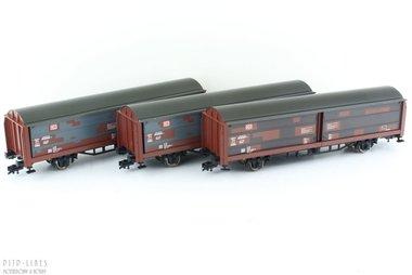DB set van drie schuifwand wagens Type Hbis-ww