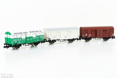 NS gesloten wagon set 3-delig Type Gs