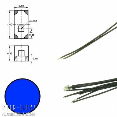 Blauwe led aan draad (5 stuks)