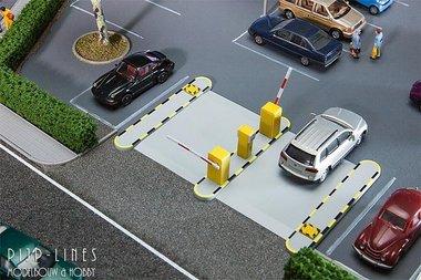 Automatische parkeerplaats slagbomen