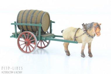 Paard met bierkar