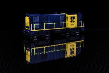 NS Diesellocomotief 2400 geel/grijs DC analoog