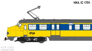 NS Hondekop 4 Nr. 1791 Intercity