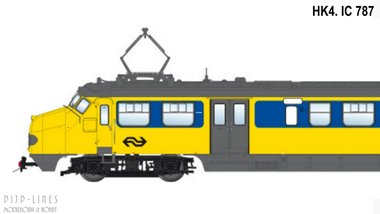 NS Hondekop 4 Nr. 787 Intercity