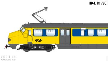 NS Hondekop 4 Nr. 790 Intercity