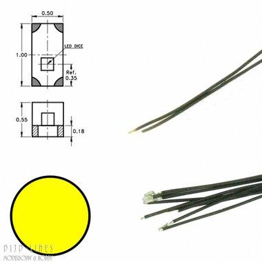 Gele led aan draad (5 stuks)