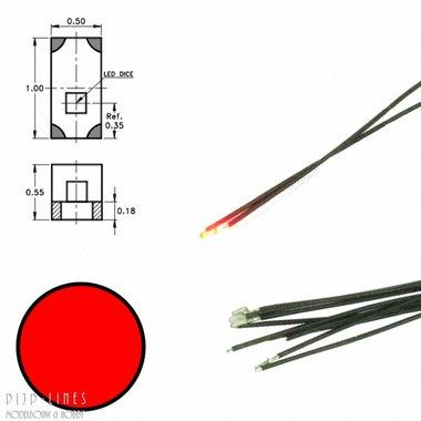 Rode led aan draad (5 stuks)