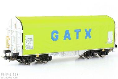 (D) GATX huifwagen voor staaltransport Type Schimmns